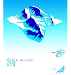 Skiing resort booklet vector image vector image