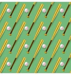 Baseball Sport Inventory Seamless Pattern vector image