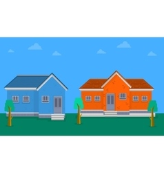 Collection of house flat vector image vector image