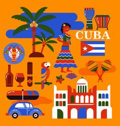 cuba travel vector image