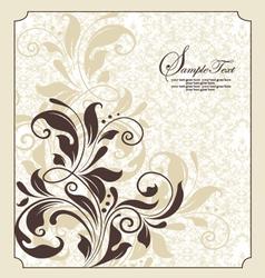 damask floral invitation vector image vector image