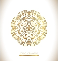 Ornamental lace pattern vector image vector image
