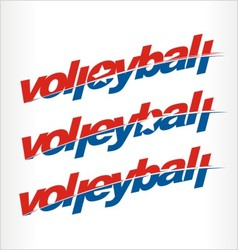 Volleyball logo volleyball word text vector image
