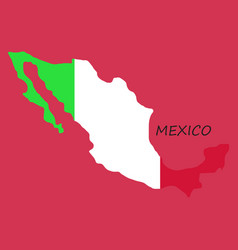 3d flag map of mexico vector