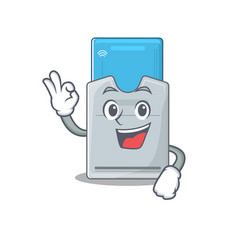 A picture key card making an okay gesture vector