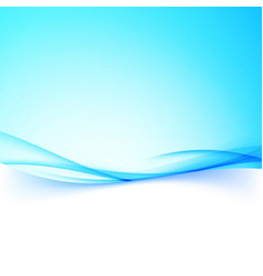 Abstract business blue swoosh wave border folder vector