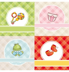 abstract set of cute baby cards vector image