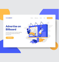 Advertise on billboard vector