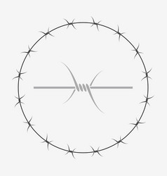 Barbed wire of circle shape vector