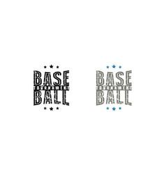 Baseball tournament emblem for t-shirt vector