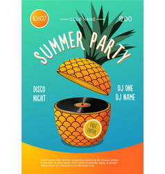 beach party summer music festival poster vector image
