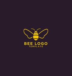 bee logo design template vector image