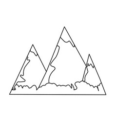 blue mountains with ice on topthe mountains in vector image