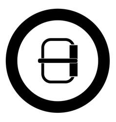 buckle icon black color in circle vector image