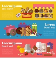 Buying cookies biscuits gift and baking cookies vector image