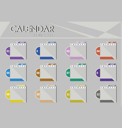 Calendar template background graphic vector