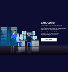 Computer data center database admin workstation vector