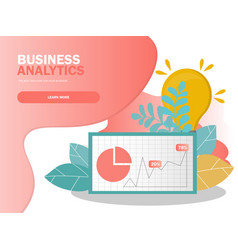 data analysis concept can use for web banner vector image