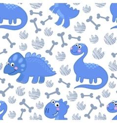 Dinosaur rex seamless pattern vector