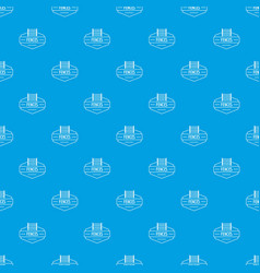 fence metal pattern seamless blue vector image