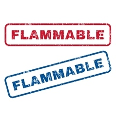Flammable rubber stamps vector
