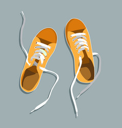 flat sport sneakers background concept vector image
