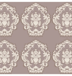 Floral ornament pattern with stylized lilies vector