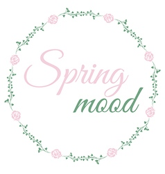 Floral wreath spring mood vector