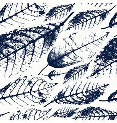 Foliage herbarium seamless pattern vector image