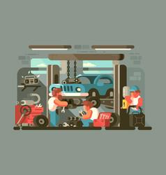 Garage auto service vector