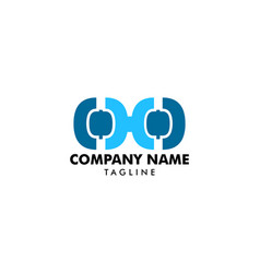 glasses logo design vector image