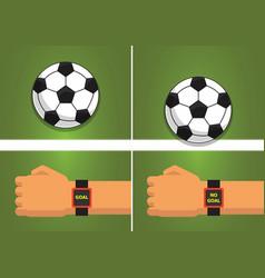 goal line sport vector image vector image