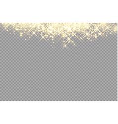 Golden sparks glitter special light effect vector