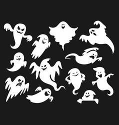 halloween cartoon spooky scary ghost spirit ghoul vector image