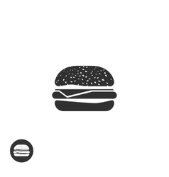 Hamburger icon isolated burger pictogram vector image
