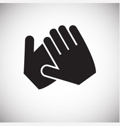 hand shaking icon on white background for graphic vector image