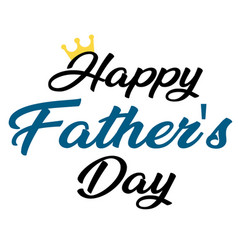 happy father day crown white background i vector image