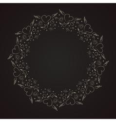 Heart border frame vector image