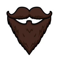 hipster beard moustache vector image