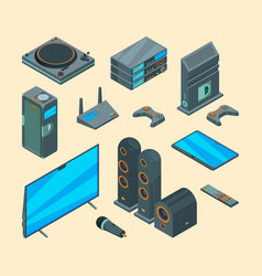 home entertainment electronically tools audio vector image