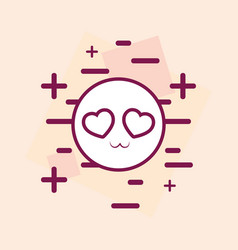 In love emoji icon vector