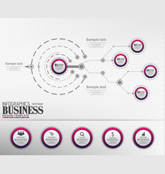 infographics business template concept with 5 opti vector image