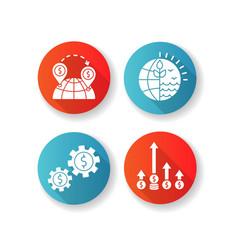 International business global trade flat design vector
