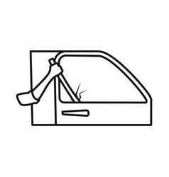 Isolated object car and theft sign set car vector