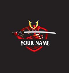 japanese ancient warrior or samurai warrior vector image