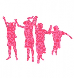 kids made from pink circles vector image