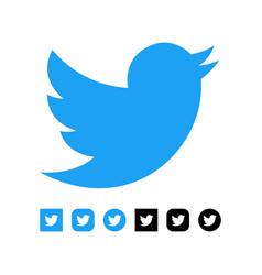 kiev ukraine - november 28 2019 twitter logo vector image