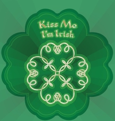 Kiss me Im Irish vector