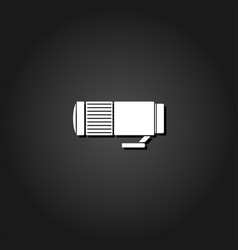 lens icon flat vector image