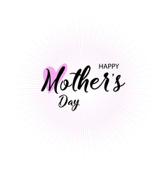 Lettering happy mothers day handmade calligraphy vector